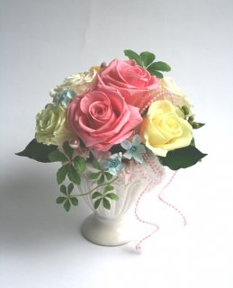 プリザーブドフラワー[ウェディング贈呈花]お値打ちな贈り物/可愛くありがとう