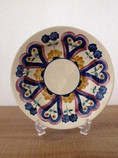 ポーランド ヴウォツワヴェク陶器 飾り皿(25cm)
