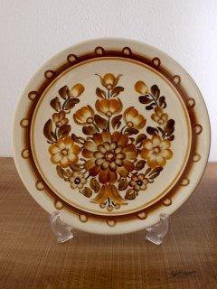 ポーランド ヴウォツワヴェク陶器 飾り皿(24cm)
