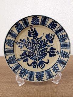 ルーマニア コロンド焼 絵皿(20.5cm)