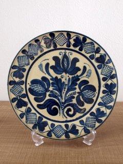 ルーマニア コロンド焼 絵皿(25cm)