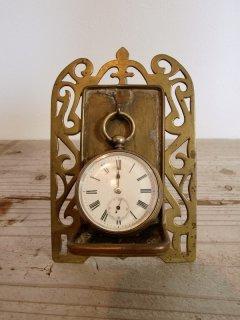 アンティーク 懐中時計スタンド (時計付き)