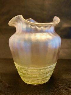 ボヘミアンガラス花瓶 ラスター彩アール・ヌーヴォー
