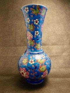 ヴィンテージ エナメル陶器の花瓶