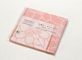 桜染 3重ガーゼハンカチ