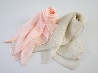 桜染 絡み織りスカーフ(小)