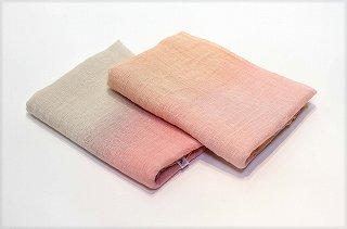 桜染 綿麻かすみ織ストール