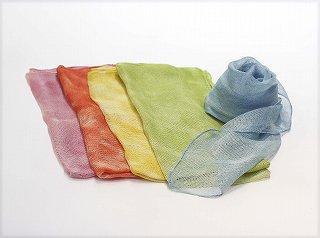 草木染 絹絡み織りスカーフ(中)
