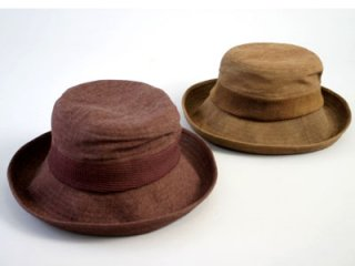 渋染 広つばセーラー帽