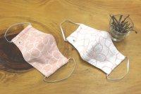 桜染の5重ガーゼマスク  立体型
