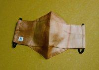柿渋染の綿と竹ガーゼの立体マスク