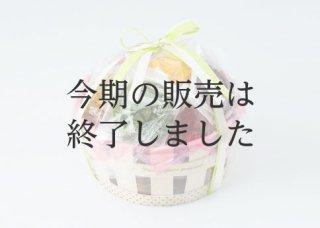 【W-306】カゴ入りかりん(大)花咲かりん5個・チョコかりん7個計12個入り