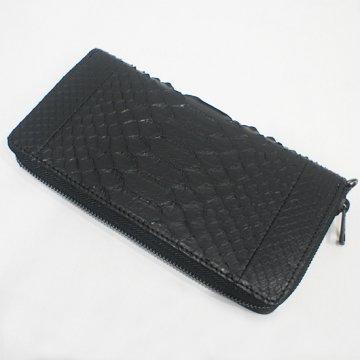 Python Leather  No-00315R  ラウンド・ウォレット