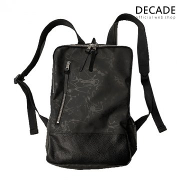 ペンキ柄ウレタン・バックパック/リュック(S) DECADE(No-01140B) Paint Graphic Polyurethane Back Pack Ruck Bag