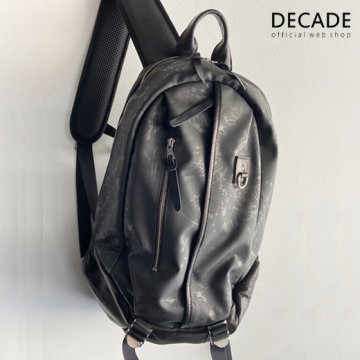 ペンキ柄ウレタン・バックパック/リュック  DECADE(No-01200B) Paint Graphic Polyurethane Back Pack Ruck Bag