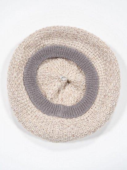 mature ha.  beret knitted linen MAS19-21 1