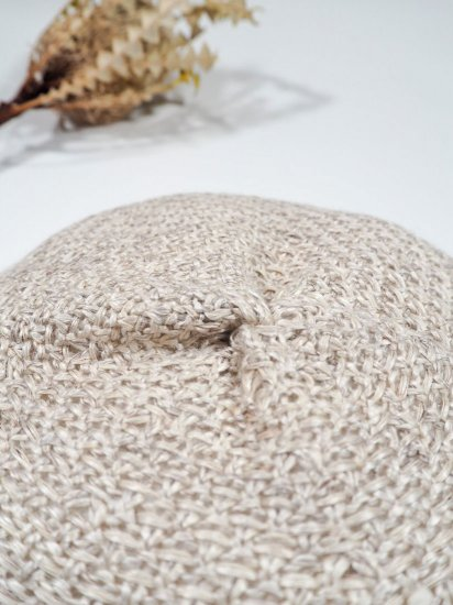 mature ha.  beret knitted linen MAS19-21 4