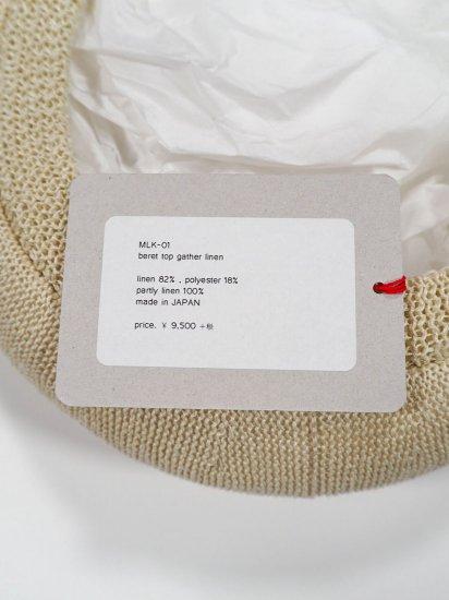 mature ha.  beret top gather linen MLK-01 9