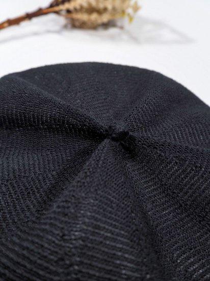 mature ha.  beret top gather linen MLK-01 5