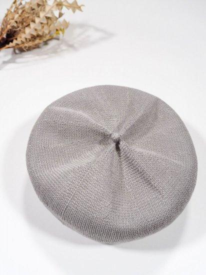 mature ha.  beret top gather linen MLK-01 6