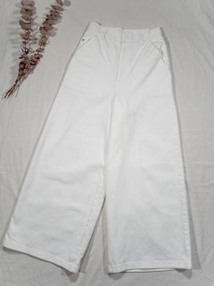 AOS  WHITE WIDE PANTS