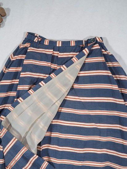 Squady シルクボーダースカート 102-2532 0