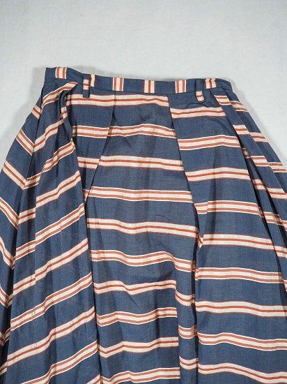 Squady シルクボーダースカート 102-2532 4