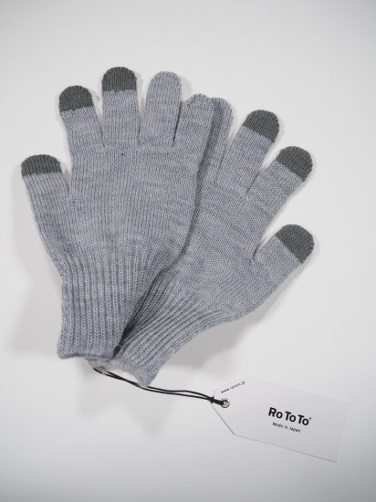 Rototo MERINO WOOL TOUCH PANEL GLOVE R1261 1