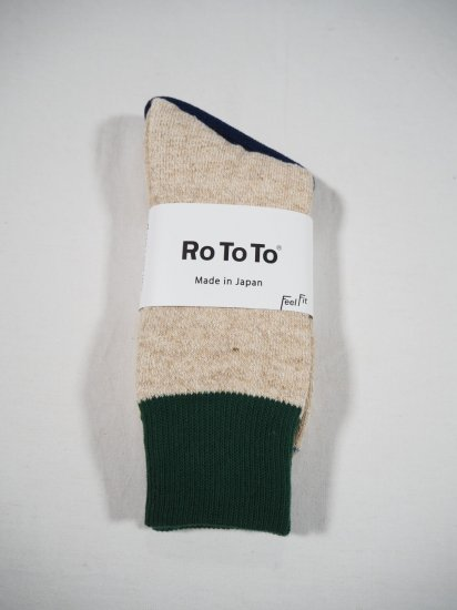 Rototo DOUBLE FACE SOCKS R1034 4