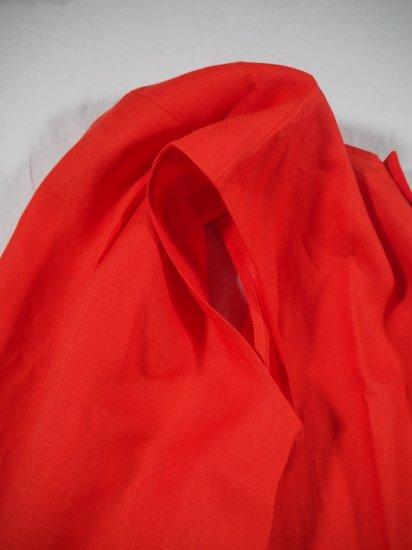 HONNETE  NO COLLAR SHIRTS DRESS [VERMILLON] OP17 4