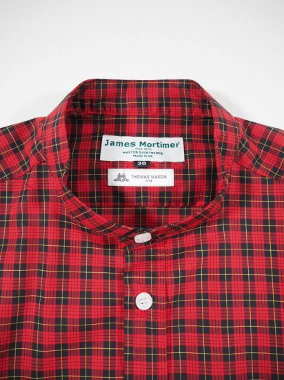 James Mortimer  BAND COLLAR SHIRT DURRANTS 0