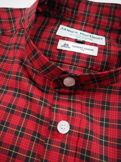 James Mortimer  BAND COLLAR SHIRT DURRANTS 2