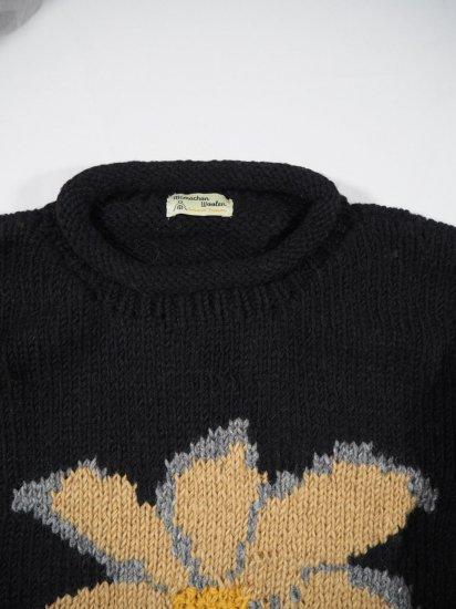 Niche.+MacMahon Knitting Mills ロールネックニット FLOWER 0