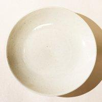 矢口桂司 並白 5寸皿