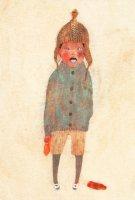 樋口佳絵 ポストカード「ある冬の日、駱駝色の帽子」