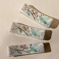古賀智織 箸置き 鳥と花