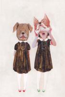 樋口佳絵 ポストカード「長女と次女」