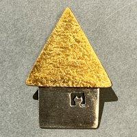 アトリエPOPPO ブローチ「黄色の家」ネコ