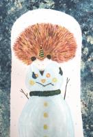 米澤知世 ポストカード「ハリネズミとゆきだるま」
