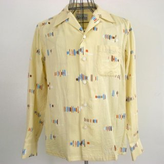 WACKOMARIA 50's BRUSH SHIRT L/S(イエロー)