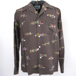 WACKOMARIA 50's BRUSH SHIRT L/S(ブラウン)
