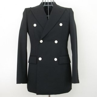 WACKOMARIA TUXEDO CLOTH LONG DOUBLE JKT(ブラック)