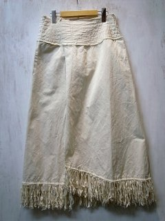 LI HUA Fringe Long Skirt