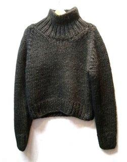 LI HUA Hand-knitting High Neck Pullover(ブラック)