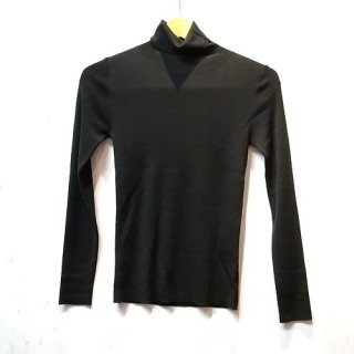 LI HUA 16G Turtle Neck Knit Pullover(ブラック)