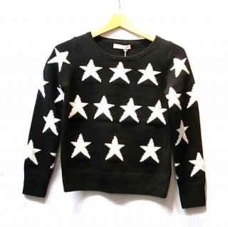 LI HUA 3G Star Jacquard Knit Pullover(ブラック)