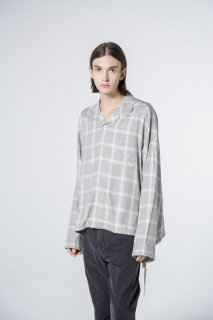 VICTIM BIG RAYON CHECK SHIRTS
