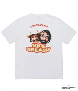 WACKO MARIA NICE DREAMS / WASHED HEAVY WEIGHT CREW NECK T-SHIRT ( TYPE-3 )