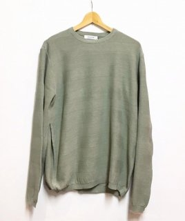 nonnative TROOPER L/S SWEATER COTTON SHADOW BORDER YARN VW