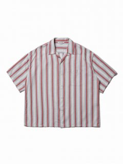 COOTIE Snake Stripe Open-Neck S/S Shirt